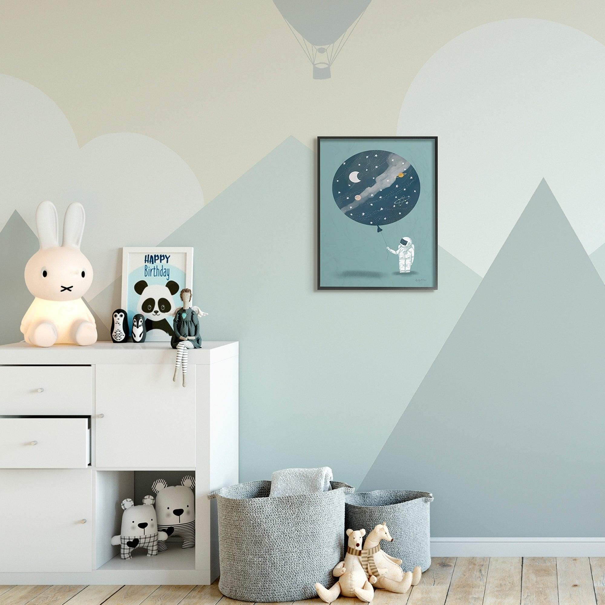 The Kids Room by Stupell Kids Space Astronaut Blue Drawing Design 11x14 Proudly Made in USA bfc65f3a 27ba 4ddc 9922 c0c4070ab8b5