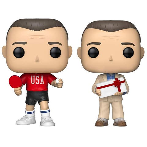 Funko POP! Movies Forrest Gump Collectors Set - Forrest in Ping Pong Outfit, Forrest with Chocolates