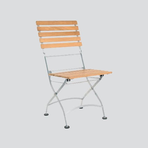 Bistro Low Chair with Iron Frame