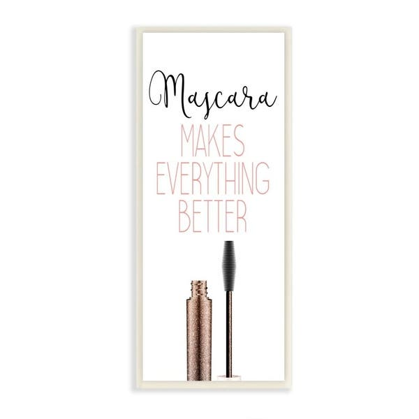 Shop Stupell Industries Mascara Fashion Designer Modern Pink Word 7x17 Proudly Made In Usa 7 X 17 On Sale Overstock 28720279