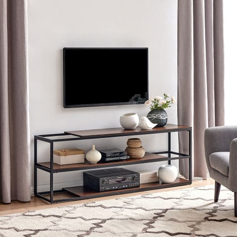 Holly & Martin Decklan Modern TV Console Table w/ Sliding Shelves