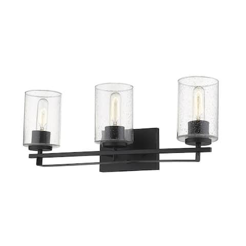 Orella 3-light Matte Black Wall Sconce
