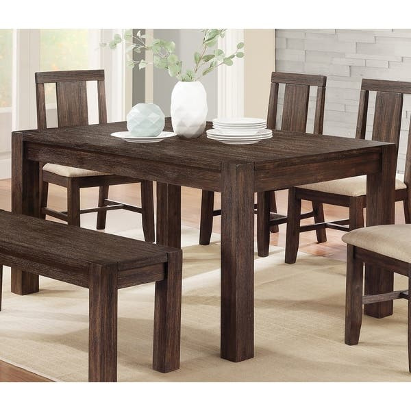 Dark Walnut Rustic Dining Table
