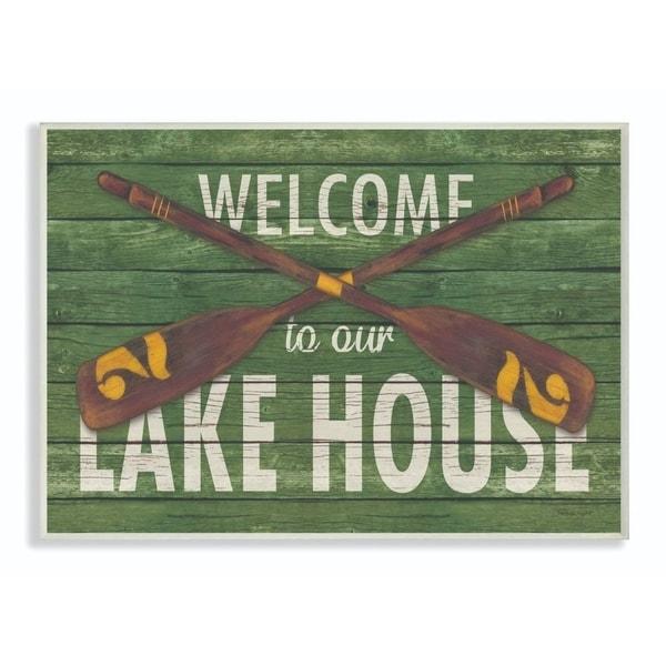 Porch & Den 'Welcome Lake House' Lithograph