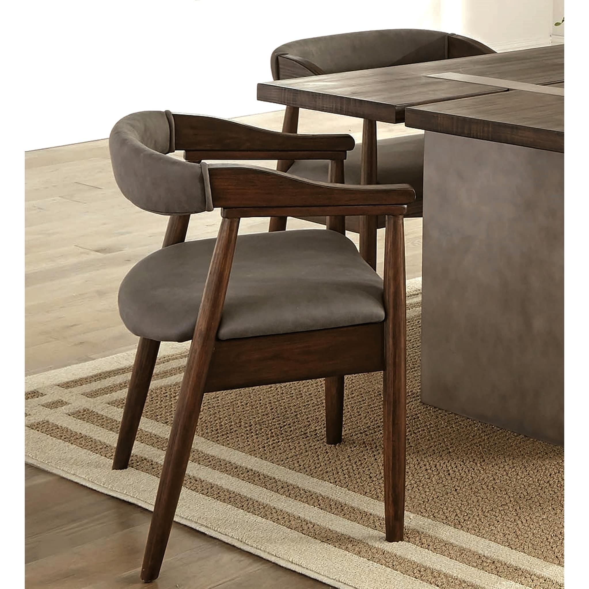 Mid Century Modern Danish Design Dining Arm Chairs Set Of 2