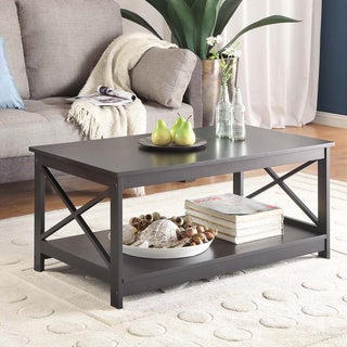 Copper Grove Cranesbill X-base Coffee Table in Grey (As Is Item)