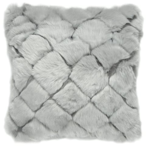 "Rizzy Home Gray Grid 20""X20"" Filled Pillow"