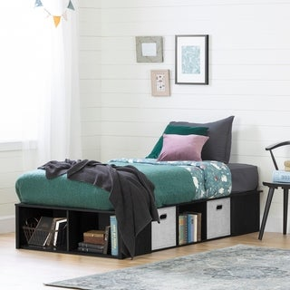 South Shore Flexible Platform Bed with baskets