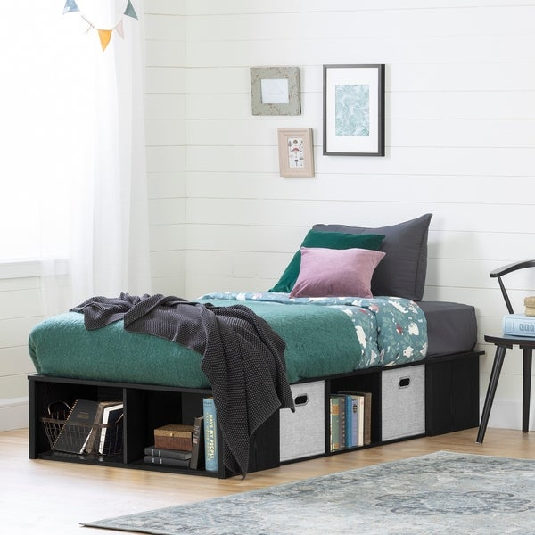South Shore Flexible Platform Bed with baskets. Opens flyout.