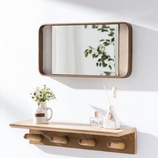 Carson Carrington Elmont Midcentury Modern Gold Metal Mirror