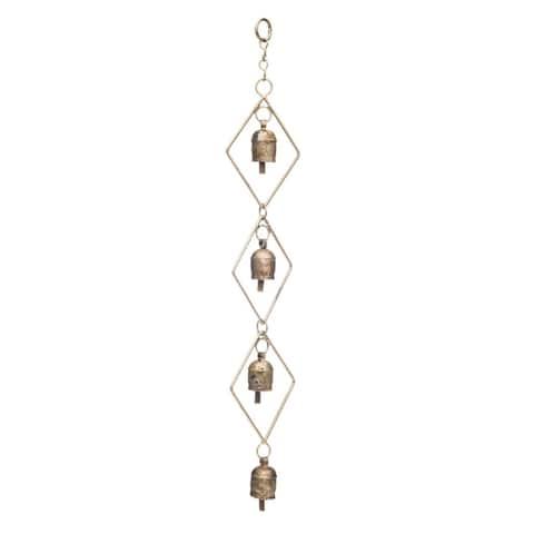 Handmade Delicate Diamond Bell Chime (India)