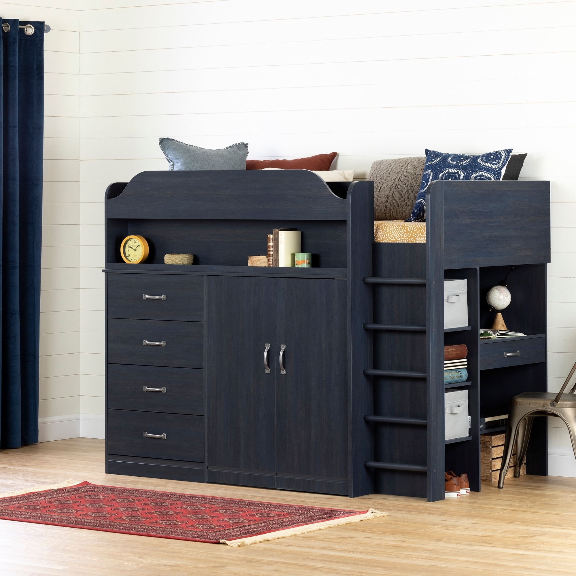 South S Asten Loft Bed With Desk