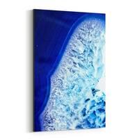 Noir Gallery Blue Geode Photography Abstract Canvas Wall Art Print