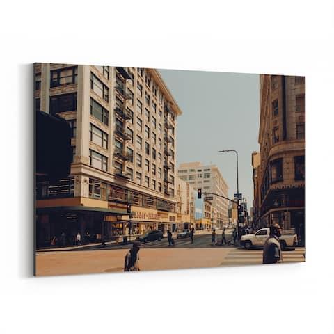 Noir Gallery Downtown Los Angeles Urban Photo Canvas Wall Art Print