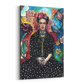 Noir Gallery Frida Kahlo Portrait Figurative Canvas Wall Art Print