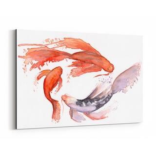Noir Gallery Japanese Koi Carp Painting Canvas Wall Art Print