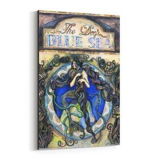 Noir Gallery Mermaid Fantasy Feminine Canvas Wall Art Print