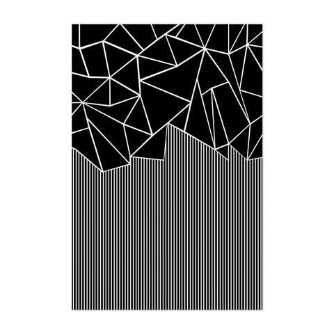 Noir Gallery Abstract Geometric Pattern Lines Unframed Art Print/Poster