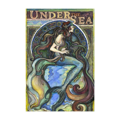 Noir Gallery Art Nouveau Mermaid Vintage Unframed Art Print/Poster