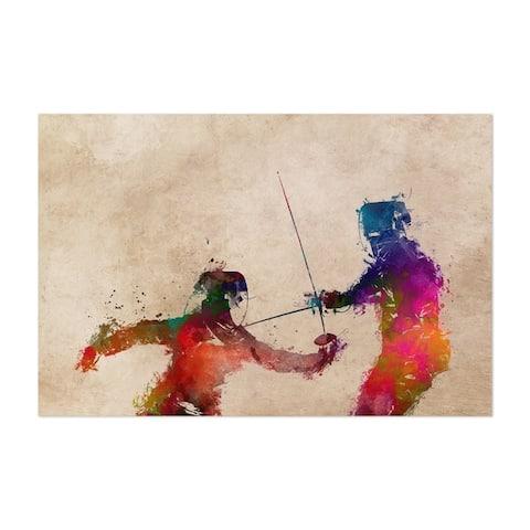 Noir Gallery Fencing Fencer Gift Sports Unframed Art Print/Poster