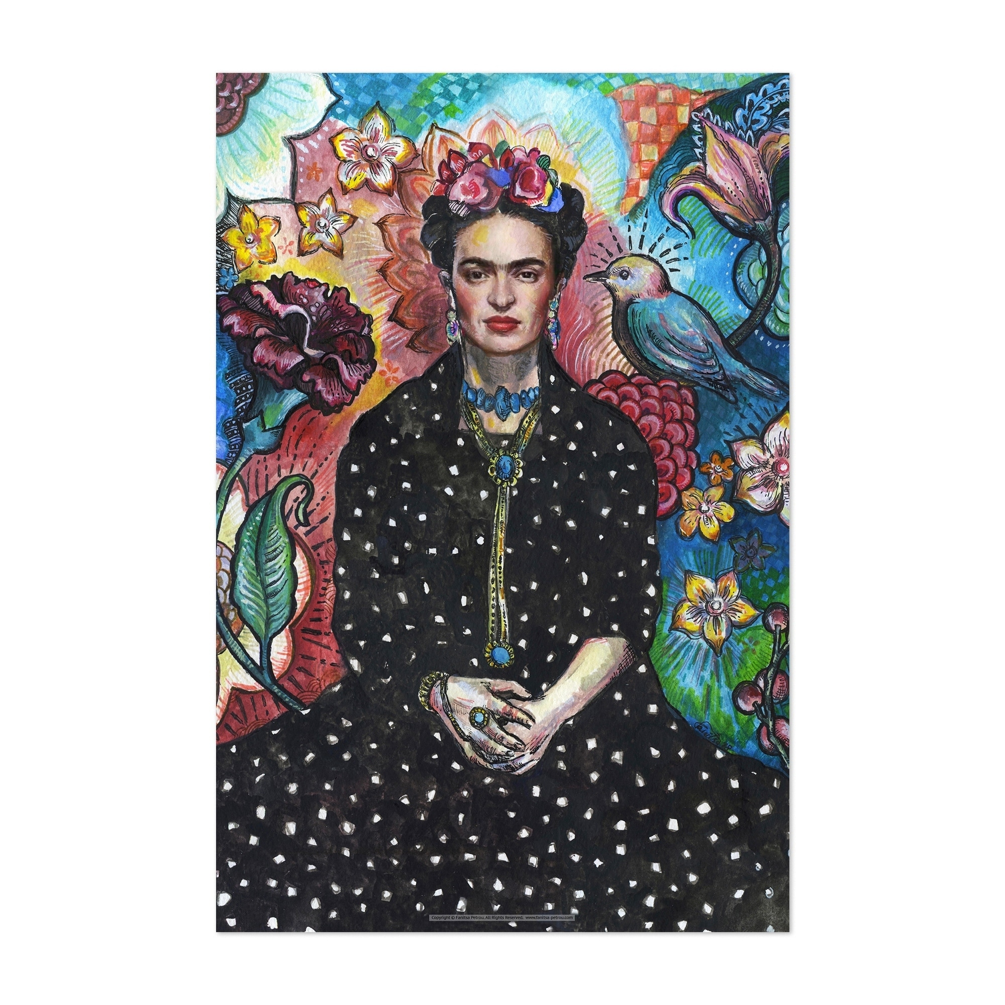 Art Print Poster Canvas FRIDA KAHLO IMAGE PICTURE
