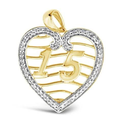 Encore by Le Vian? Pendant featuring Vanilla Diamonds? set in Honey Gold?