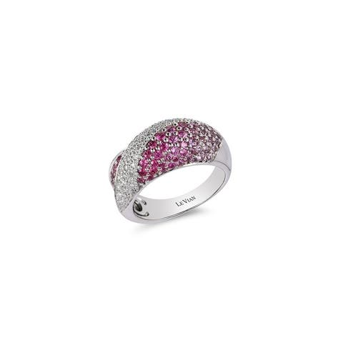 Encore by Le Vian Ring featuring Bubblegum Pink Sapphires Vanilla Diamonds set in Vanilla Goldn - Ring Size 7