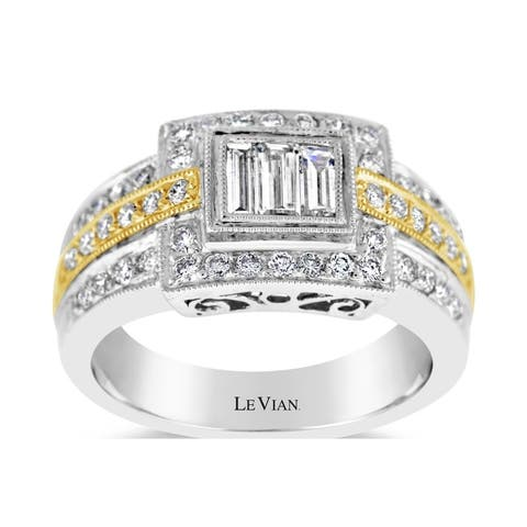 Encore by Le Vian Diamond Ring set in Two Tone Gold Ring Size 7