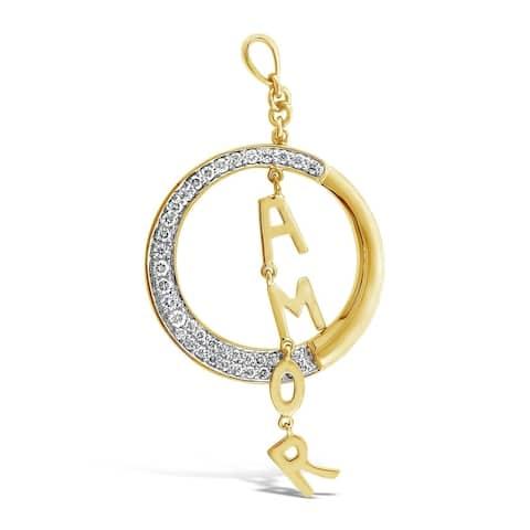 Encore by Le Vian 'Amor' Drop Pendant featuring Vanilla Diamonds set in Honey Gold