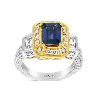 Link to Encore by Le Vian Ring featuring Blueberry Sapphire, White Sapphire Vanilla Diamonds set in Two Tone Gold - Ring Size 7 Similar Items in Fashion Jewelry Store