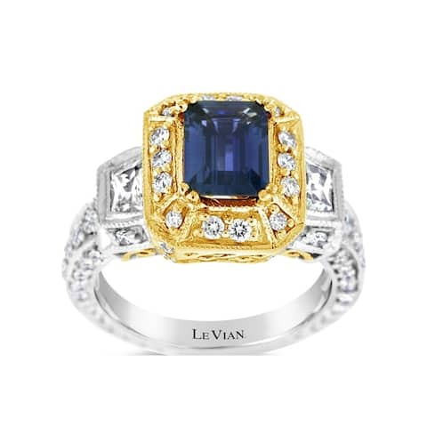 Encore by Le Vian Ring featuring Blueberry Sapphire, White Sapphire Vanilla Diamonds® set in Two Tone Gold