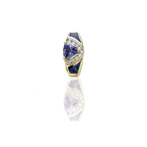 Encore by Le Vian Pendant featuring Blueberry Tanzanite®, Neopolitan Opal Vanilla Diamonds® set in Honey Gold