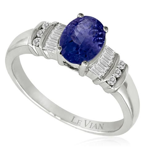 Encore by Le Vian Ring featuring Blueberry Tanzanite Vanilla Diamonds set in Vanilla Gold. Ring Size 7