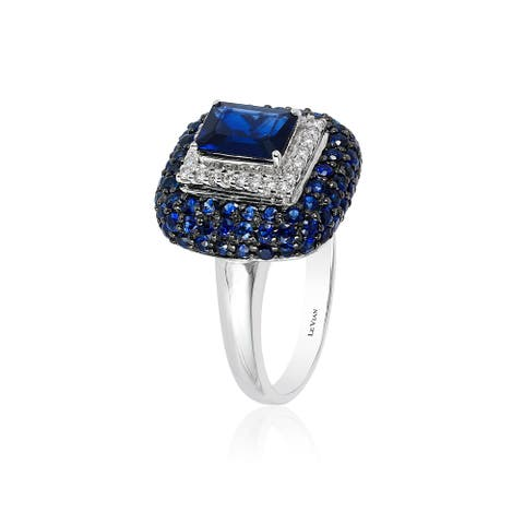 Encore by Le Vian Ring featuring Blueberry Sapphire Vanilla Diamonds set in Vanilla Gold - Ring Size 7