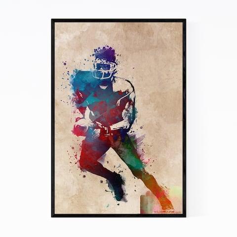 Noir Gallery Football Player Fan Gift Sports Framed Art Print
