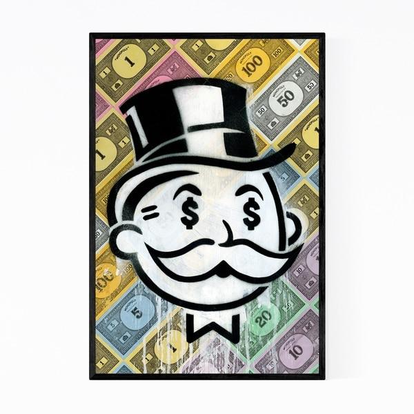 Noir Gallery Funny Monopoly Money Humor Framed Art Print