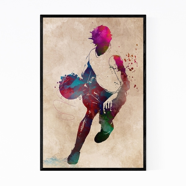 Noir Gallery Basketball Player Gift Sports Framed Art Print