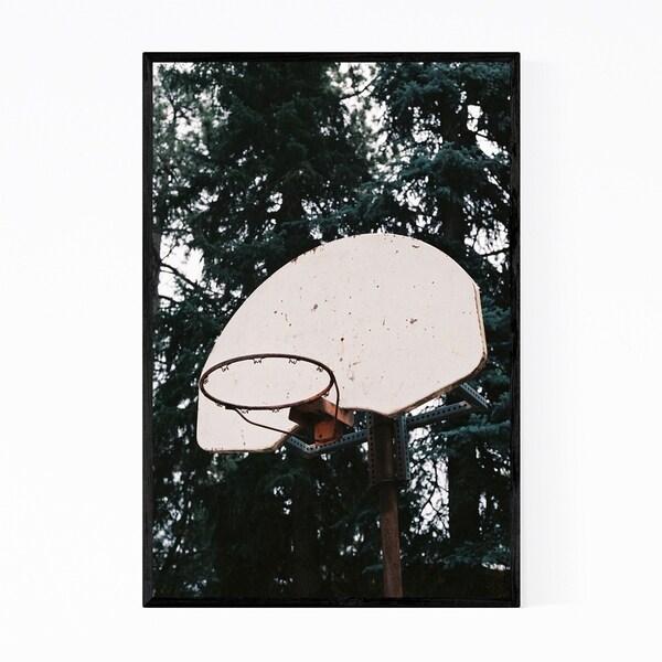 Noir Gallery Abandoned Basketball Hoop Framed Art Print