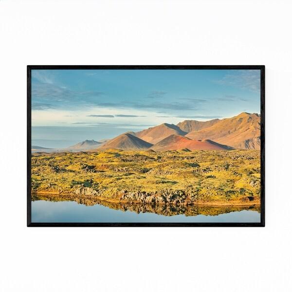 Noir Gallery Iceland Mountains Nature Landscape Framed Art Print