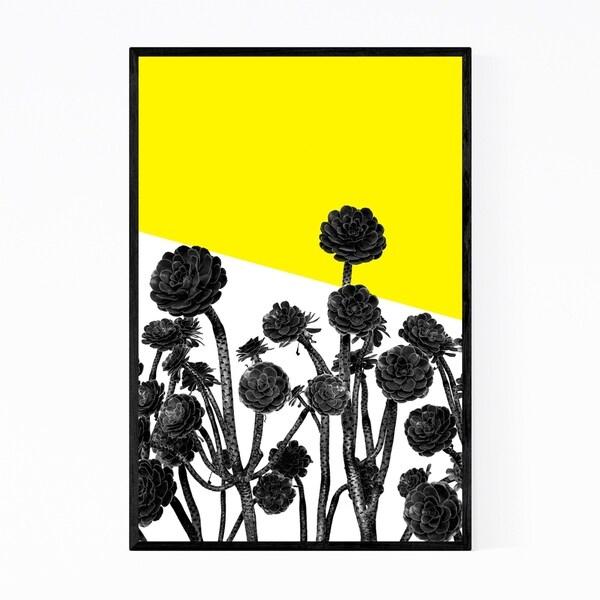Noir Gallery Black & White Floral Botanical Framed Art Print