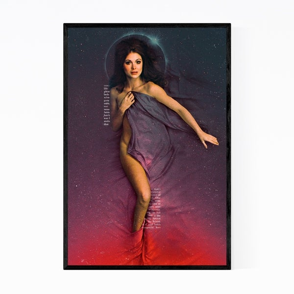 Noir Gallery Feminine Figurative Collage Framed Art Print