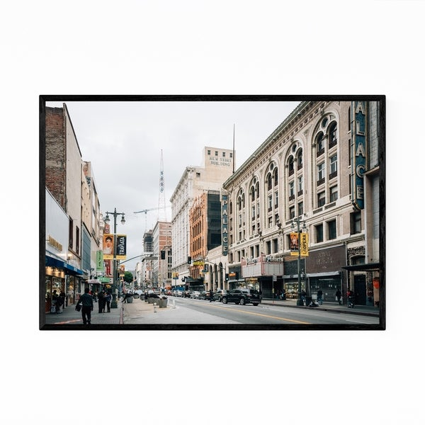 Noir Gallery Downtown Los Angeles Broadway Framed Art Print