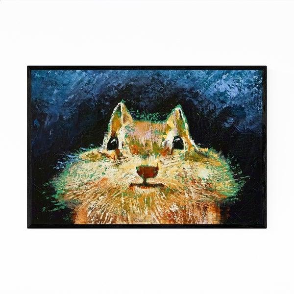 Noir Gallery Chipmunk Cute Animal Painting Framed Art Print