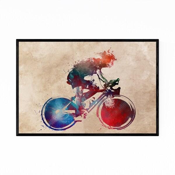Noir Gallery Cycling Biker Gift Sports Framed Art Print