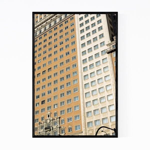 Noir Gallery Madrid Spain Architecture Photo Framed Art Print