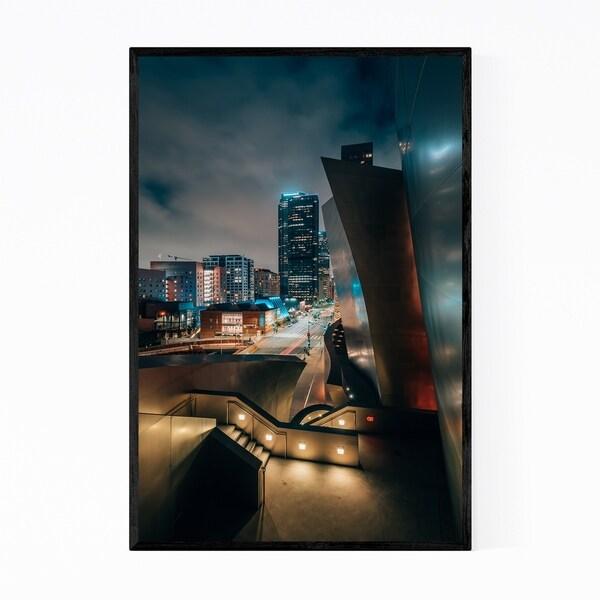 Noir Gallery Los Angeles Skyline Cityscape Framed Art Print