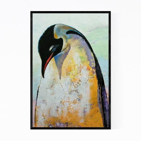 Noir Gallery Emperor Penguin Animal Painting Framed Art Print