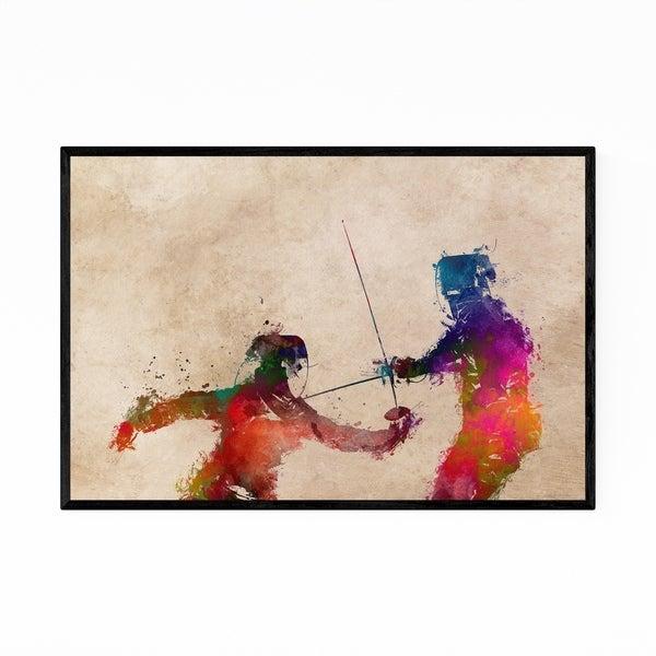 Noir Gallery Fencing Fencer Gift Sports Framed Art Print