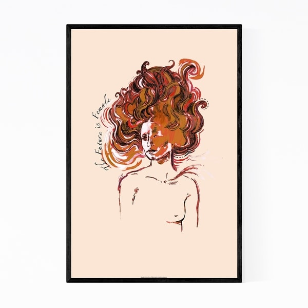 Noir Gallery Feminism Figurative Illustration Framed Art Print