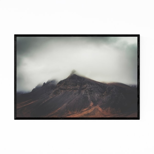Noir Gallery Iceland Mountains Nature Landscape Framed Art Print
